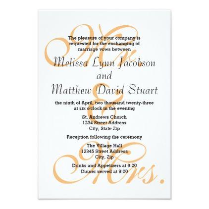 Mr mrs peach 3x5 wedding reception invite wedding mr mrs peach 3x5 wedding reception invite wedding invitations cards stopboris Gallery