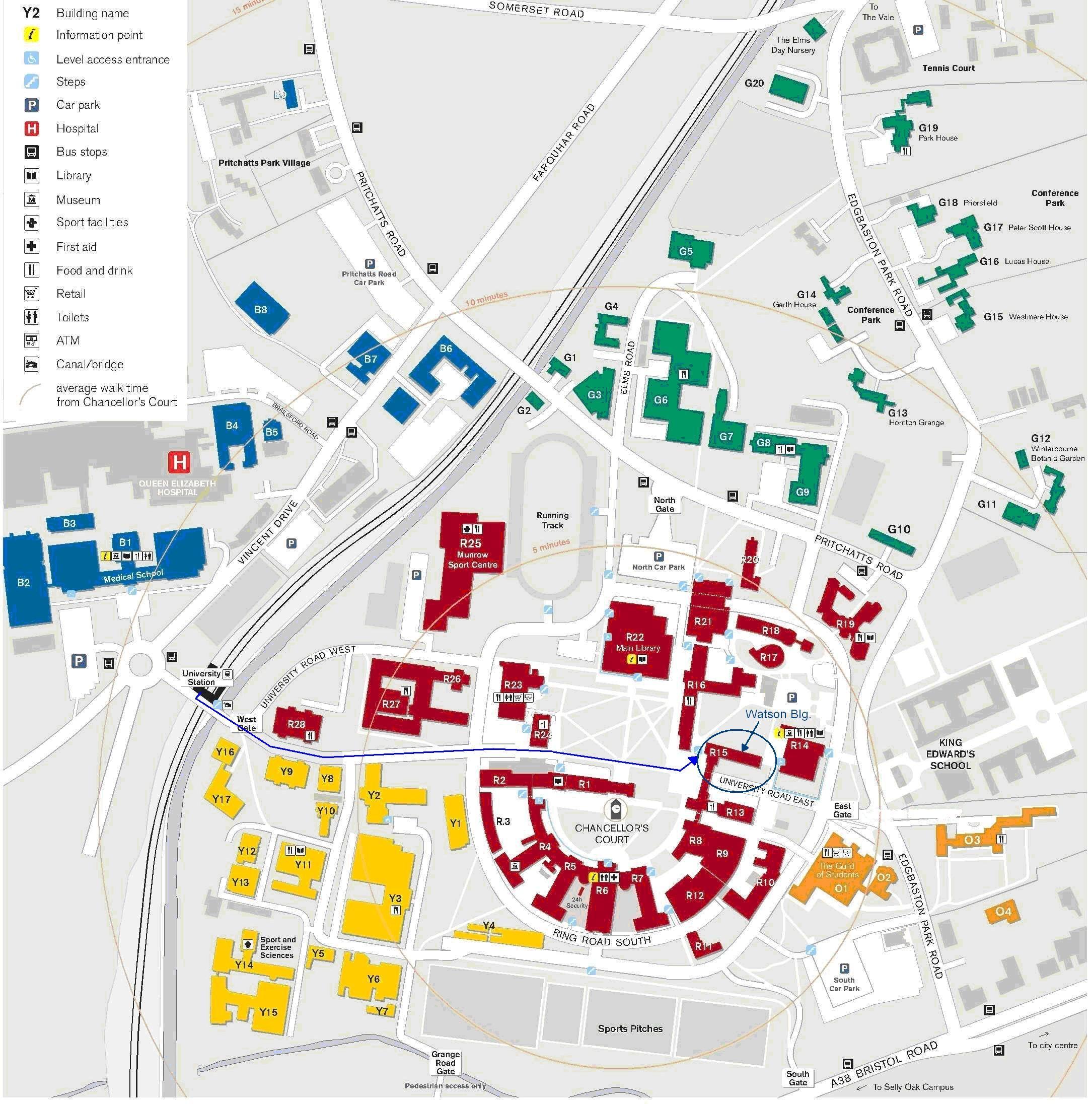 Birmingham University Map Universite Tarih