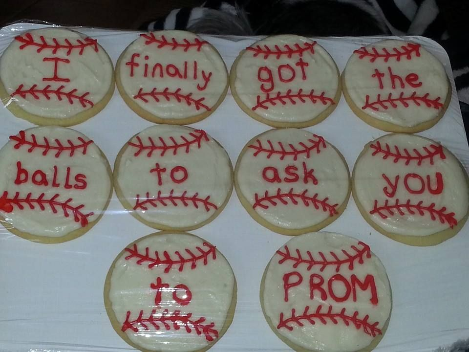 Baseball Cookies (and Prom invitation :-) )