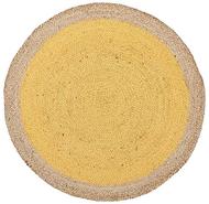 Tortuga Jute Round Rug Yellow 120x120cm
