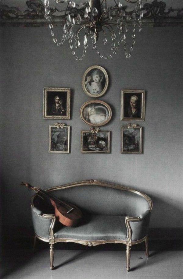 französische landhausmöbel polstermöbel sofa grau … | back2design ...
