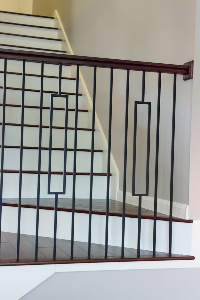 16 6 3 Single Rectangle Hollow Iron Balusters Wrought Iron Stair Railing Iron Stair Railing