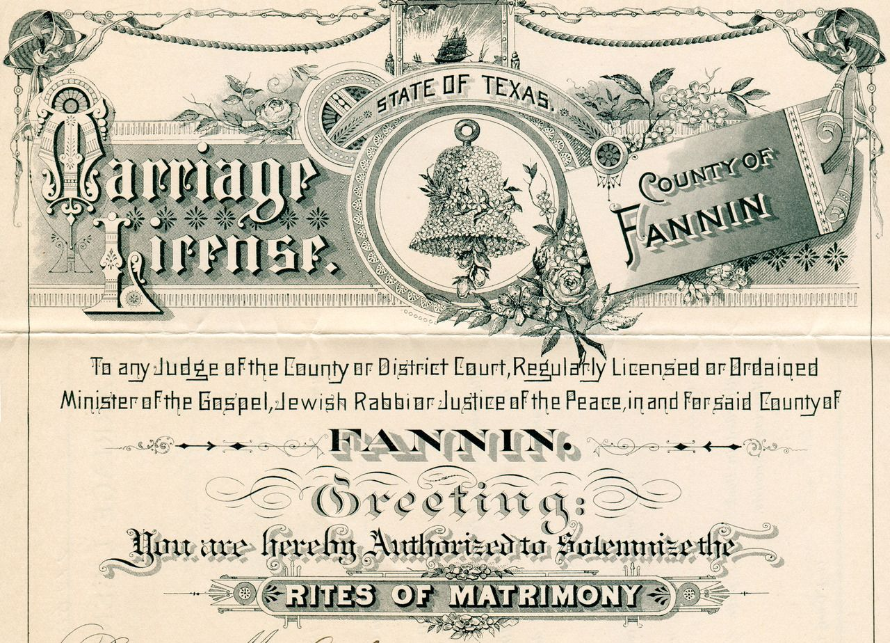 Marriage License From Fannin County Texas 1903 From My Collection More Newhousebooks And Http Newhousebooks Tumblr Com