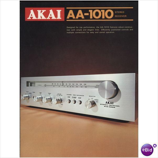Akai Original AA-1010 Receiver Sales Brochure HYPE Pinterest - sales brochure