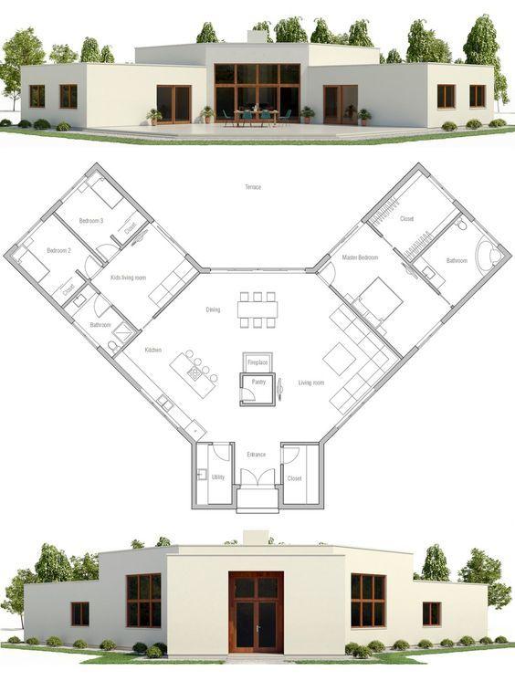 Modern Minimalist House Plan Exterior Style And Design Pinterest