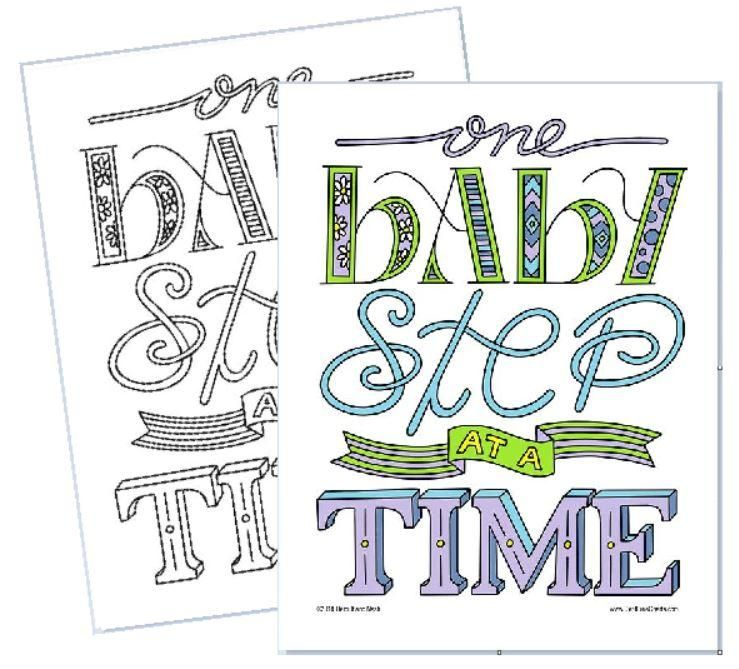 One Baby Step At A Time Coloring Page Coloring Pages Baby