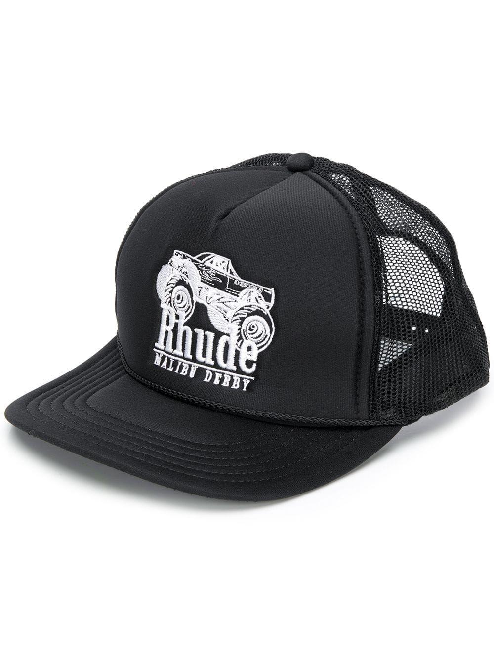 RHUDE RHUDE LOGO BASEBALL CAP - BLACK.  rhude  1010d2cc032a