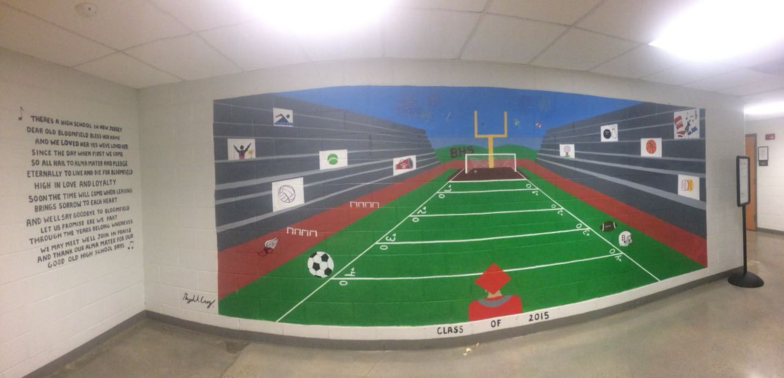 Mural and Alma Mater I did for Bloomfield High School  Bloomfield,NJ