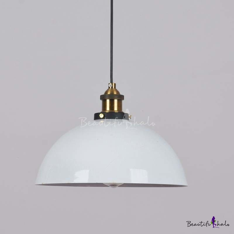 Simple Vintage Style 1 Light Bowl Shape Small Big Industrial Style Led With Images Small Pendant Lights Light Pendant Light