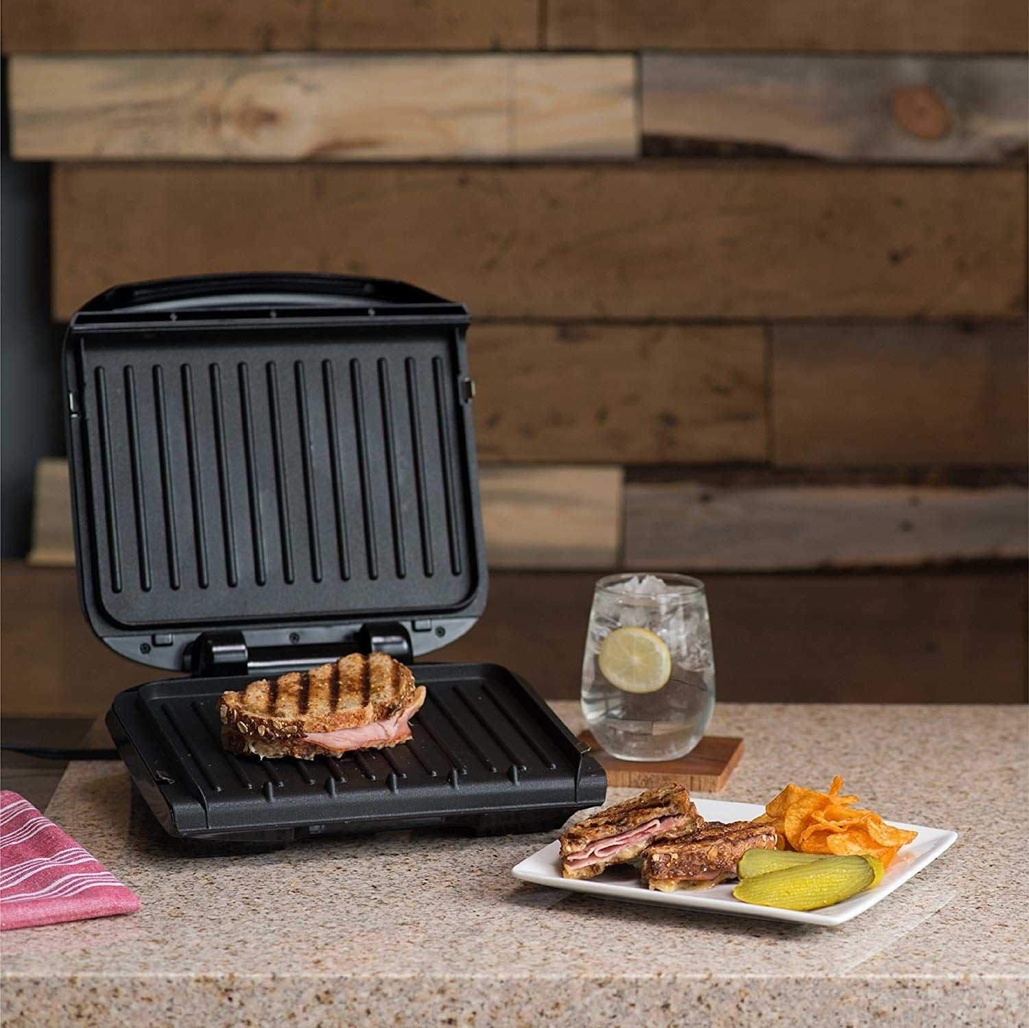 A George Foreman Grill With Removable Grilling Plates You Can Toss In The Dishwasher When You Re Done Because Sometimes Yo Grill Plate Grilling George Foreman