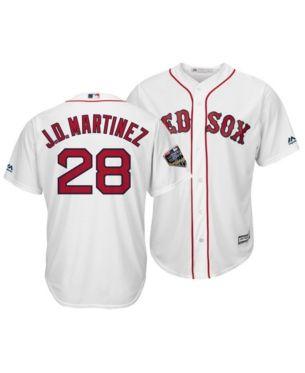 59b6036b2 Majestic Men's J.d. Martinez Boston Red Sox 2018 World Series Patch Player  Cool Base Jersey - White S