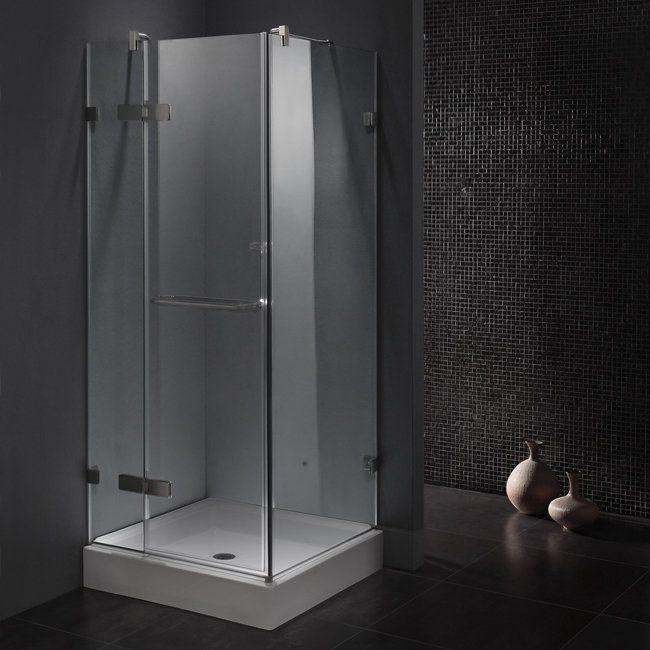 View The Vigo Vg6011363w 36 X 36 Frameless Shower Enclosure With 3 8 Clear Glass Shower Enclosure Frameless Glass Shower Enclosure Corner Shower Enclosures