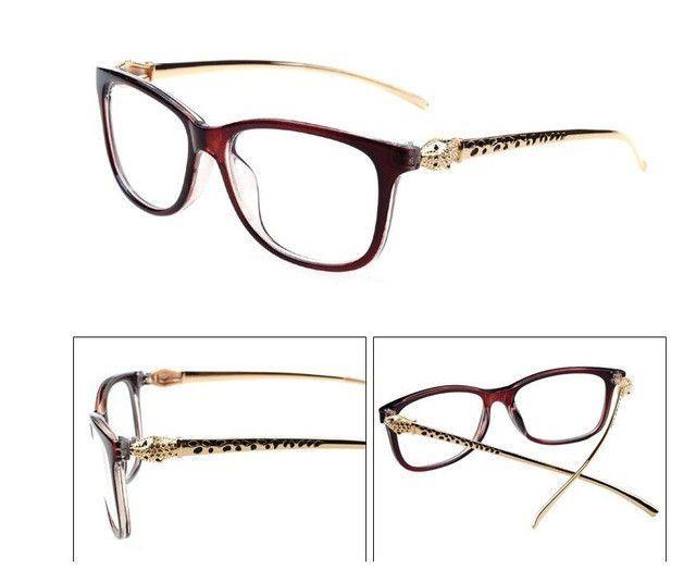 6f8c3eb705e00 Ralferty Vintage Leopard Optic Clear Eyeglasses Frame Brand Designer Women  Eye Glass Decoration Reading Glasses Plain Mirror 720