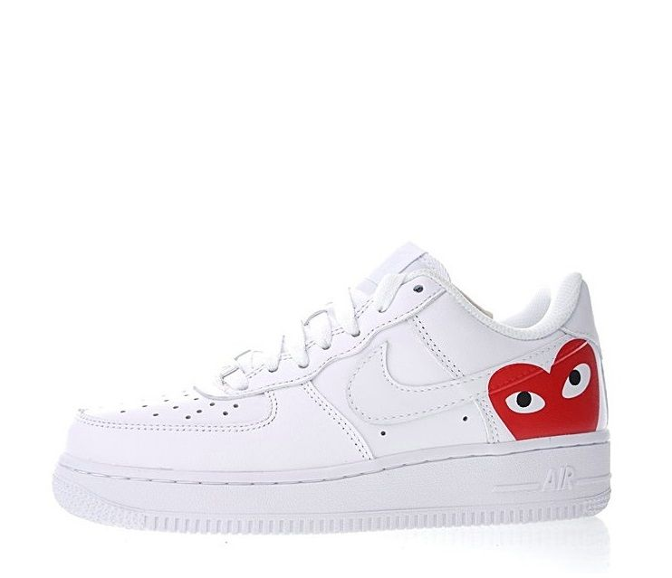 cd55e60f10ed8 Comme Des Garcons Play X Nike Air Force 1 Low Retro Sneakers