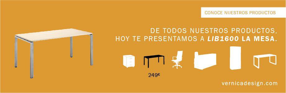 Hoy presentamos uno de nuestras mesas de oficina. Si quieres saber más visita www.vernicadesign.com