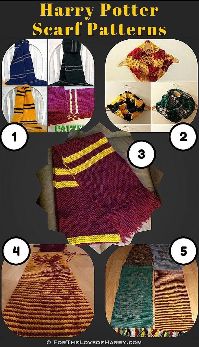 Knitting Patterns for Harry Potter Scarves | Harry potter, Stricken ...