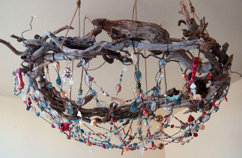 Tracey Barnes Bower bird nest chandelier