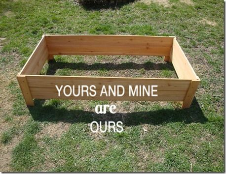 Raised Garden Bed Under 20 And In Less Than An Hour Yours And Mine Are Ours Blog