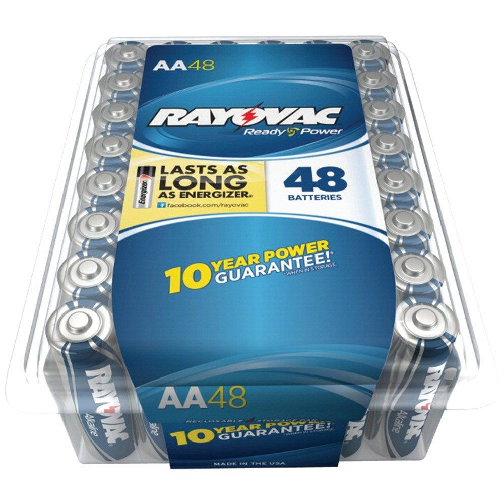 Rayovac Alkaline Batteries Reclosable Pro Pack Aa 48 Pk Alkaline Battery Batteries Alkaline