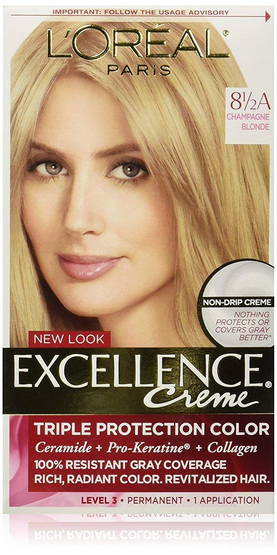 L Oreal Paris Excellence Creme Permanent Hair Color 8 5a