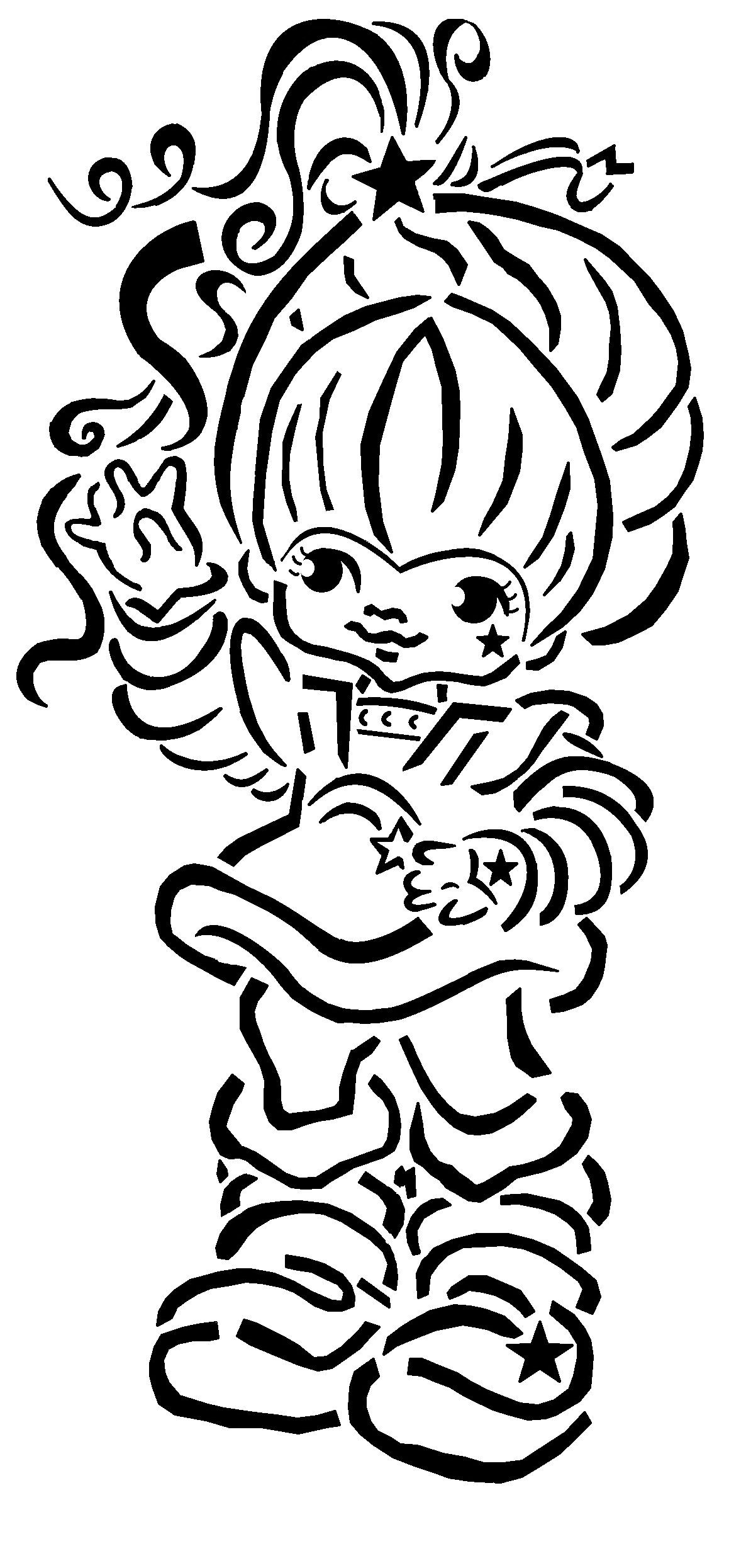 Just In Case Anybody Wanted A Stencil Of Rainbow Brite And