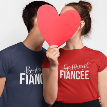 Husband Wife Boyfriend Girlfriend Fiancé T-shirt Couples Matching Valentines Day