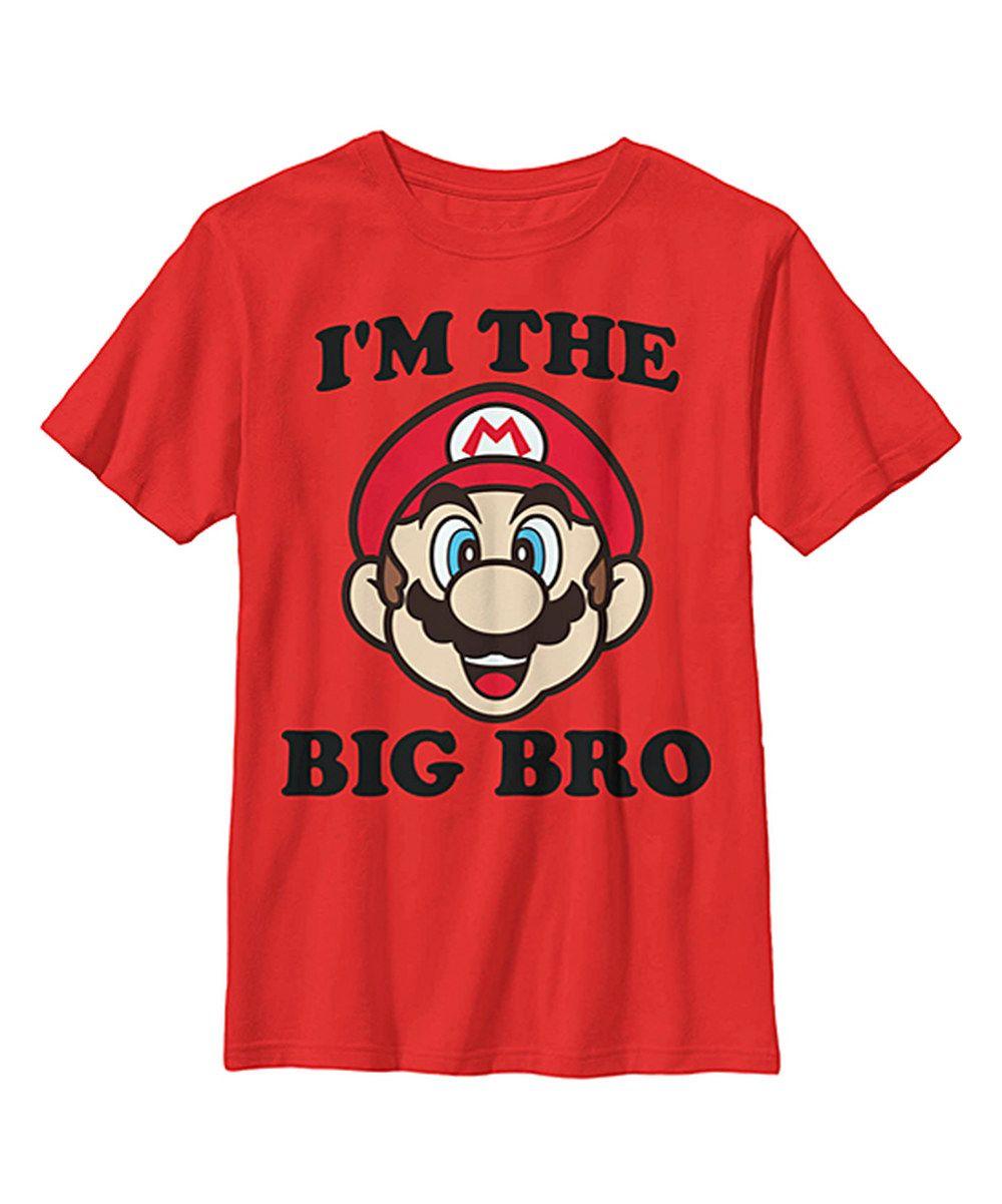Look at this super mario bros red big bro tee boys on