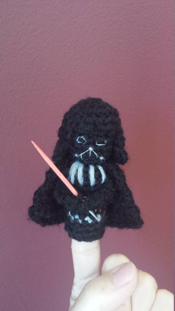 Star Wars Crochet Finger Puppet Patterns, Darth Vader, Luke ...