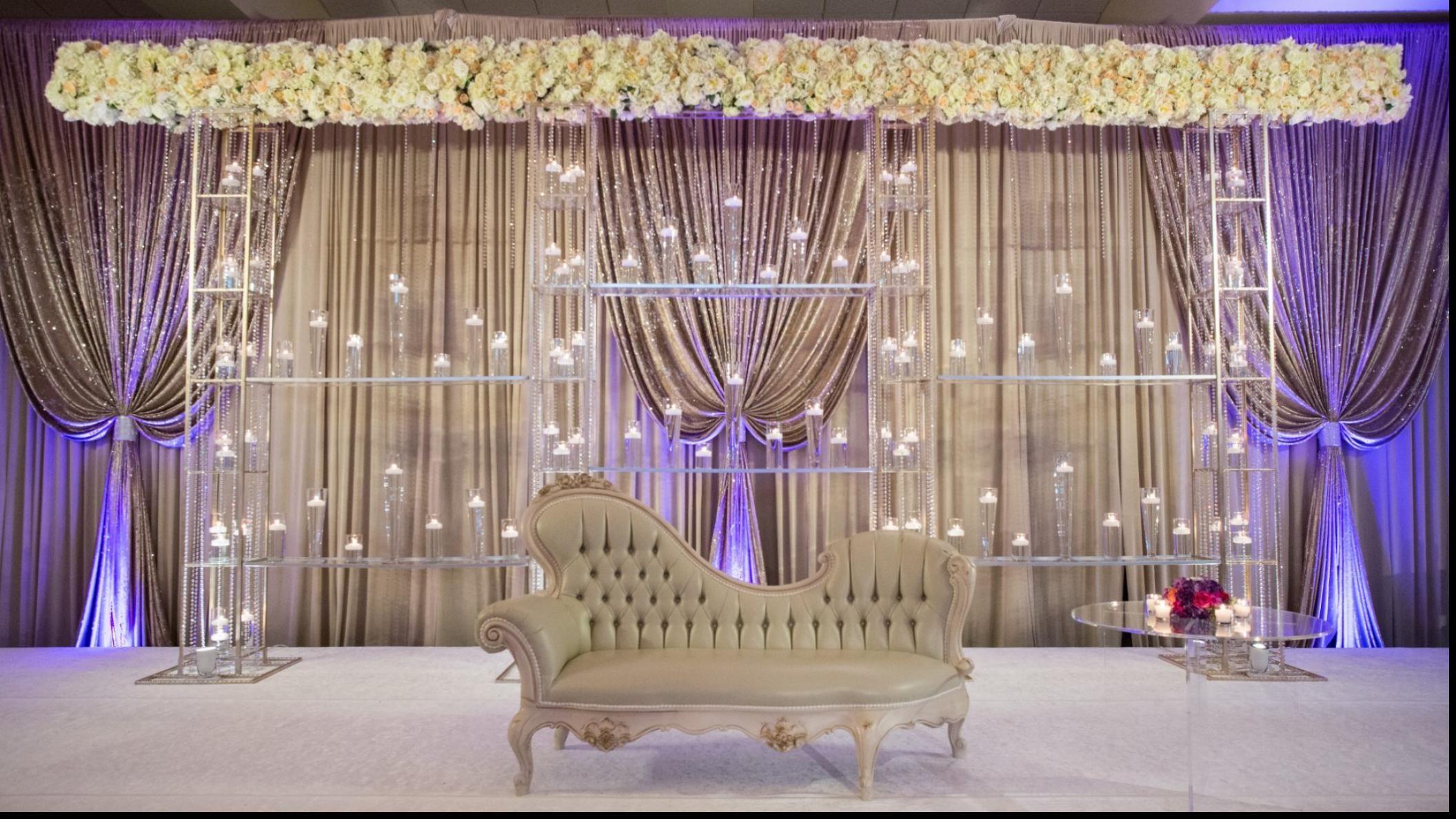 wonderful indoor indian wedding decoration ideas | stage decor