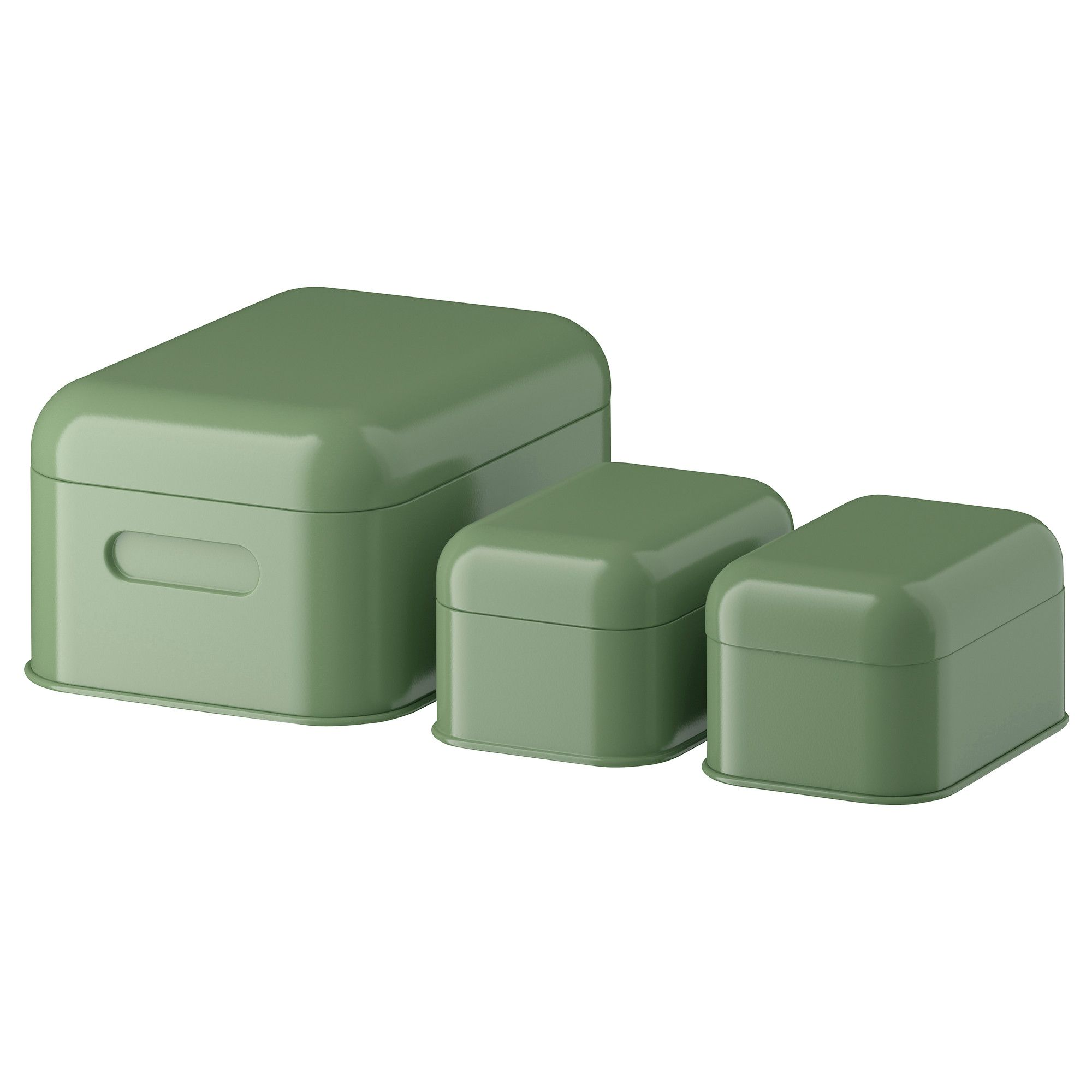 Attrayant SNIKA Box With Lid, Set Of 3   Green   IKEA.