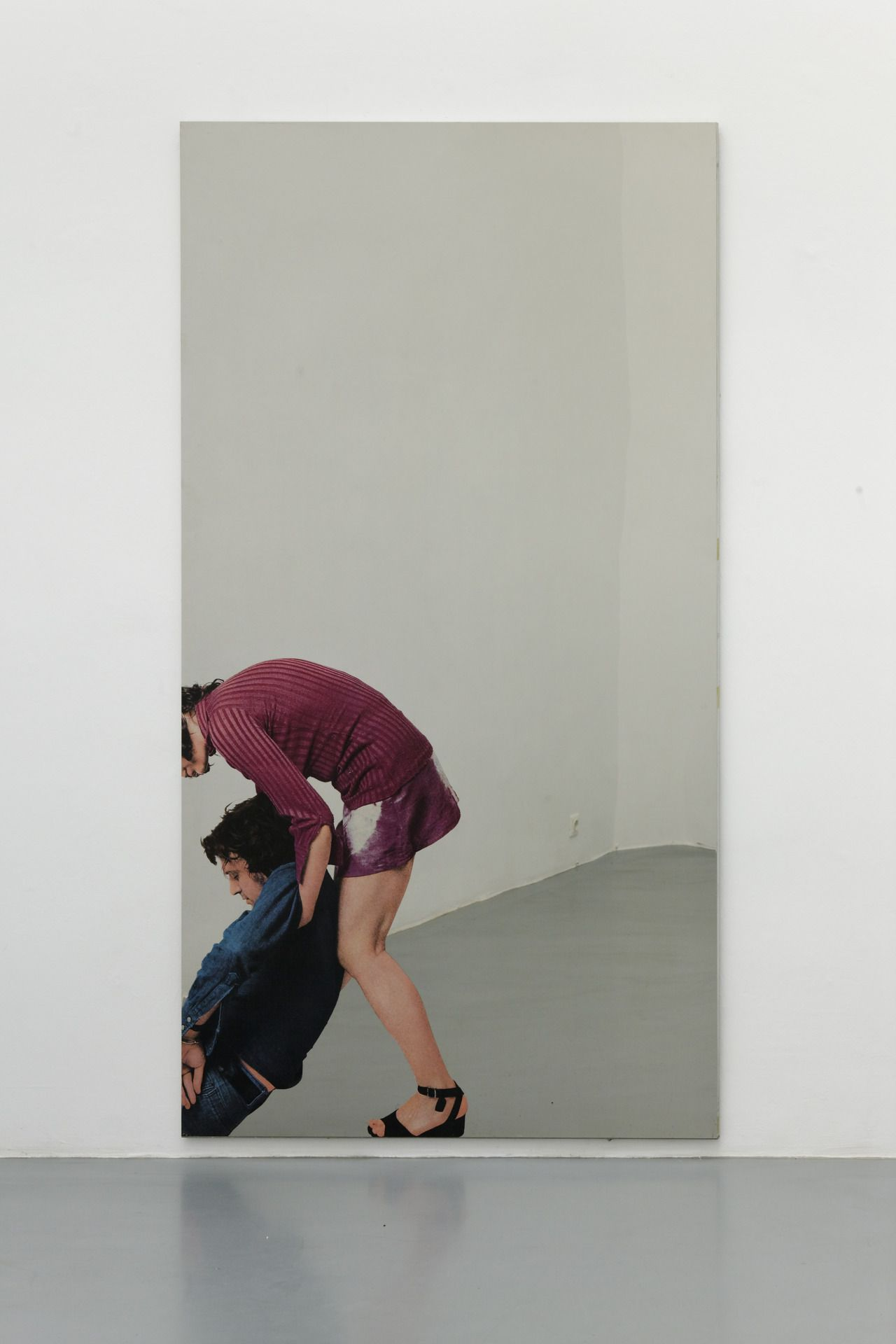 tra-noi: Michelangelo Pistoletto. Deposizione (silkscreen on polished stainless steel; 230 x 125 cm). 1962 - 1973.