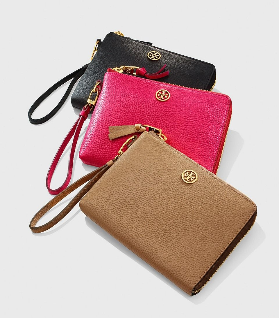 d270ec244579 Classic Gifts  Tory Burch Robinson Pebbled Large Wristlet
