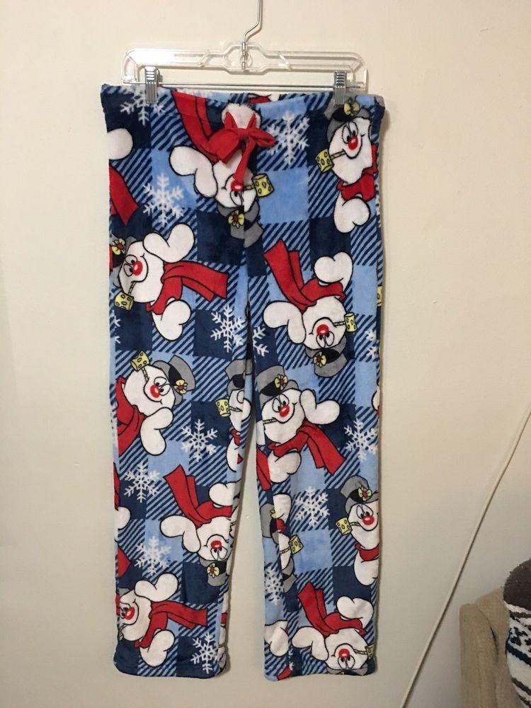 1273c261e3ed Women s Frosty The Snowman Fleece Pajama Lounge Pants Size Medium 8 ...