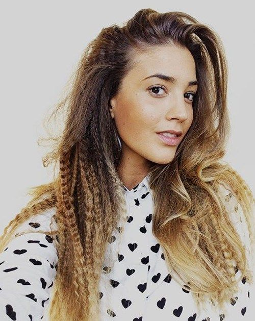 35 Most Alluring Hairstyles for Frizzy Hair | Crimped hairstyles ...