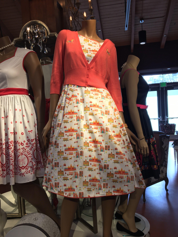NEW Disney Parks Dress Shop Main Street Dress Size XS