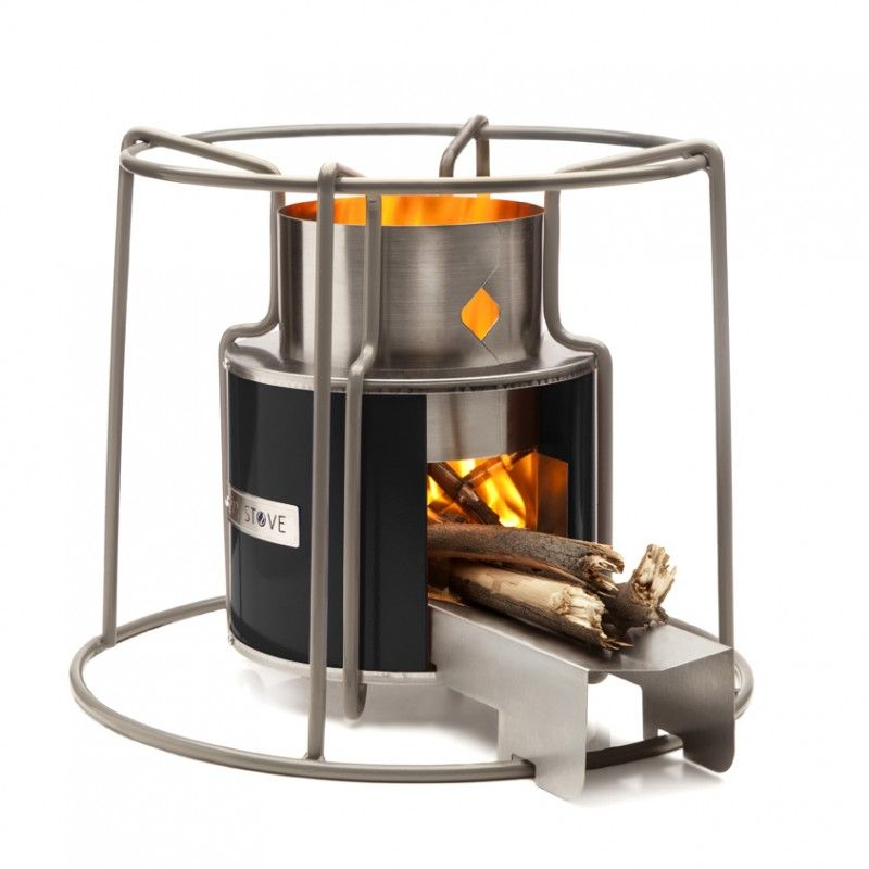 This rocket stove gives you all the magic of a real fire with the ...