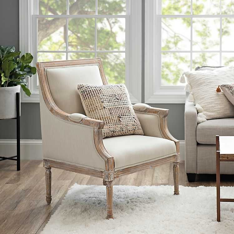 Mckenna Solid Cream Accent Chair Accent Chairs Cream Accent