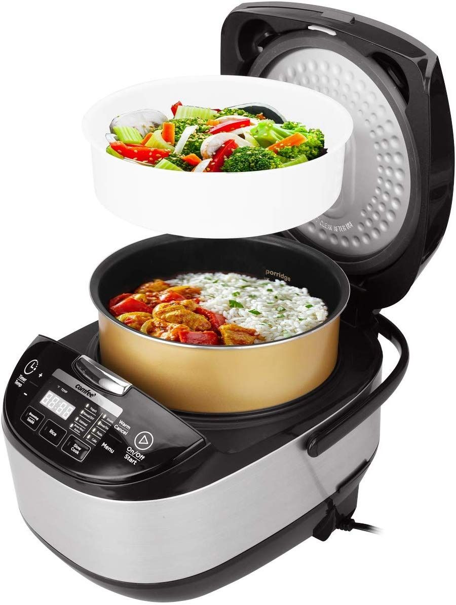 Comfee 20 Cups Cooked 5 2qt Asian Style Programmable All In 1