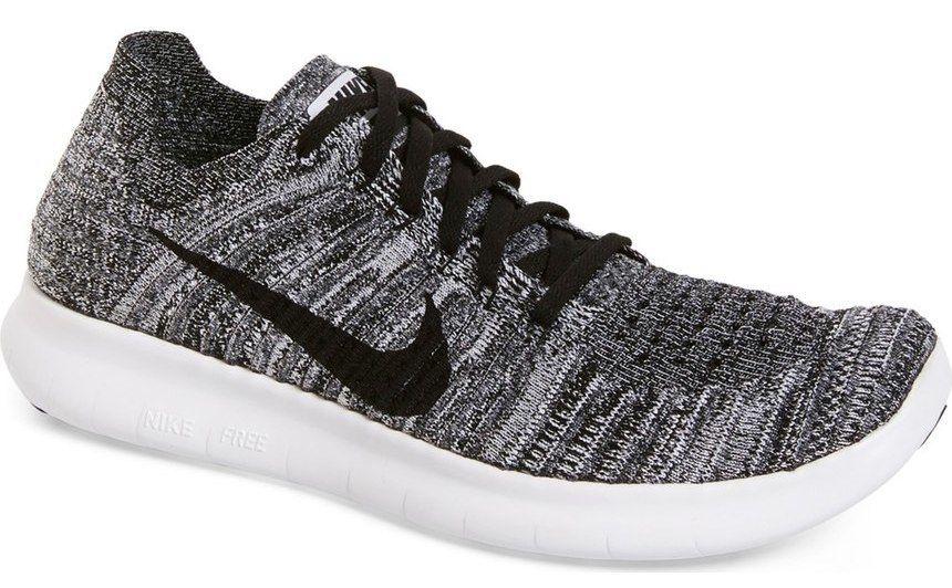 Best Mens Sneakers 2017: Nike Flyknit Running Shoes in Grey Black