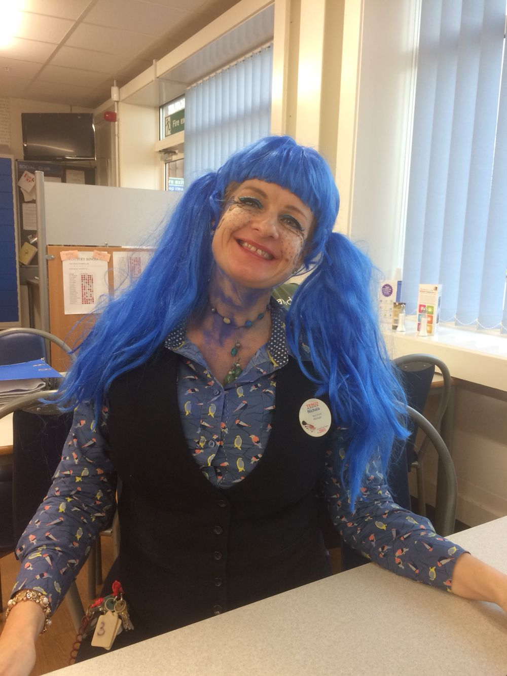 Blue hair at tesco work pinterest blue hair