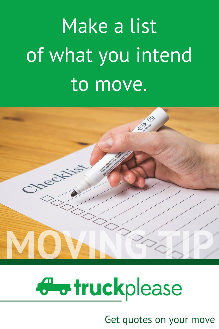 Moving Company Quotes Cool Moving Tip 👉🏻 Make A List Of What You Intend To Move And Think
