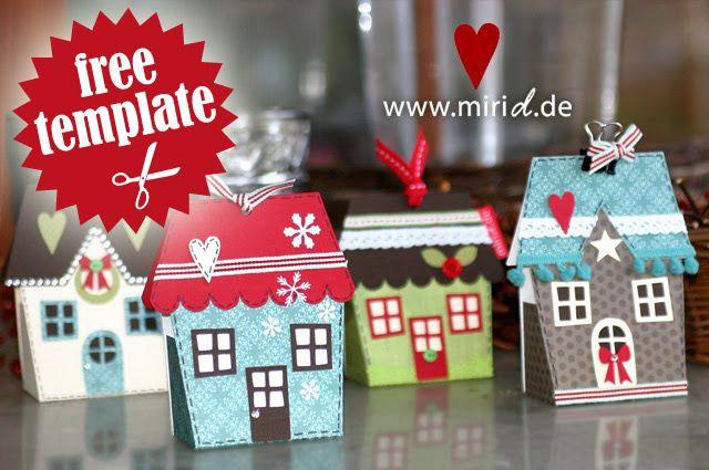 weihnachtliches dorf weihnachtsd rfer geschenkschachteln und silhouetten. Black Bedroom Furniture Sets. Home Design Ideas