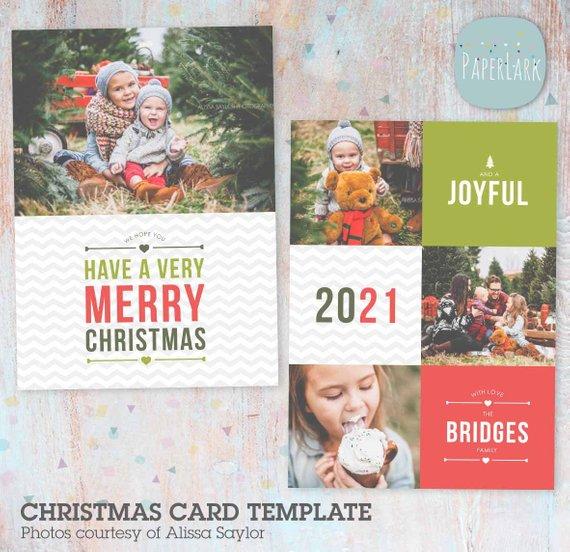 On Sale Christmas Card Template Holiday Christmas Card Template