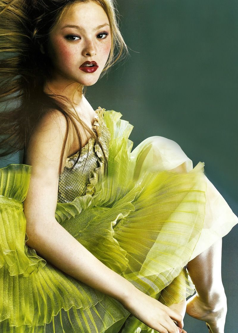Devon Aoki in Pierre Balmain Haute Couture | Ph. by Satoshi SaikusaFrench Vogue