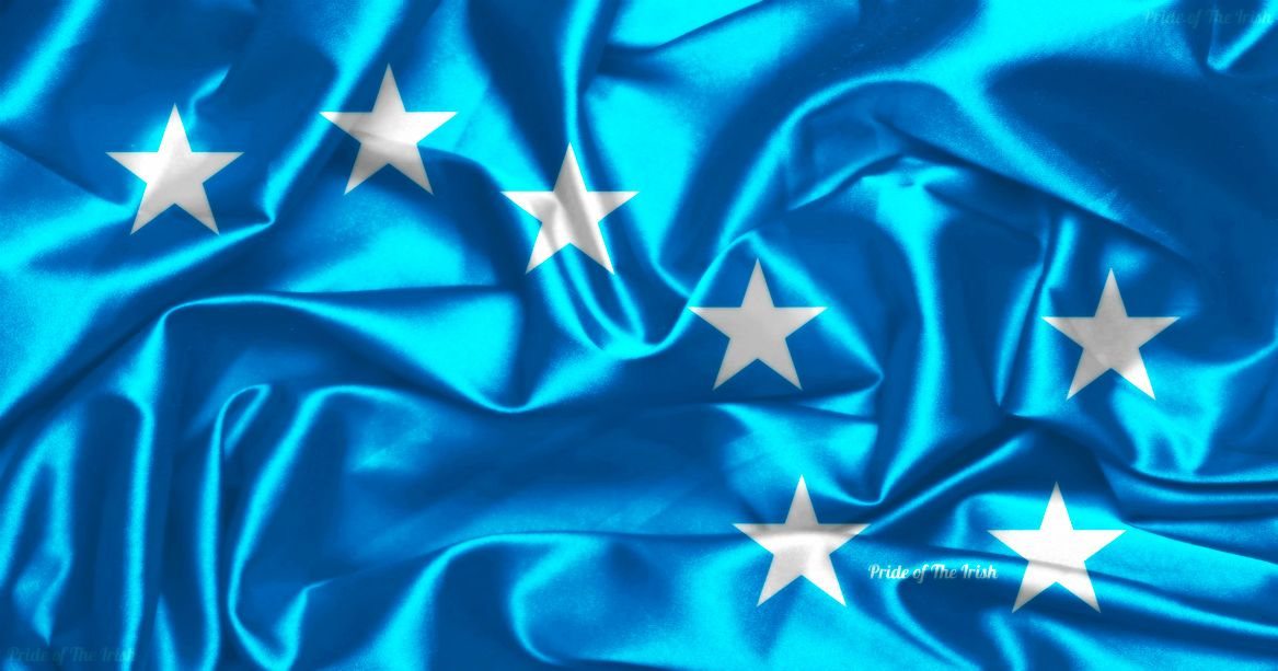 GREEN STARRY PLOUGH FLAG 5/' x 3/' Ireland Irish Republican Citizen Army