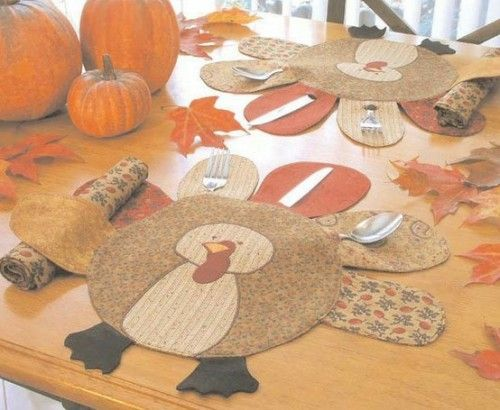 Turkey Placemat Pattern Pinlavie Com Thanksgiving Placemats Thanksgiving Crafts Holiday Sewing