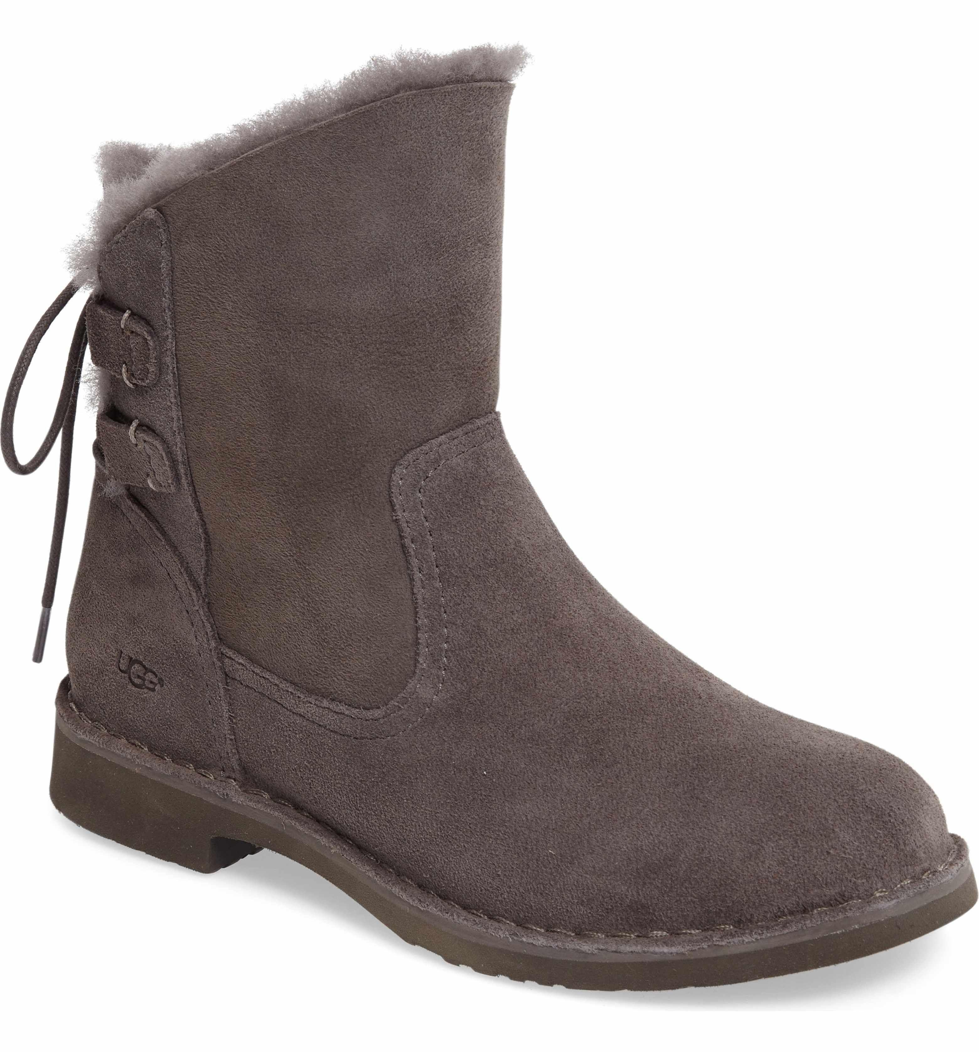 70339c80799 Main Image - UGG® Naiyah Lace-Back Genuine Shearling Boot (Women ...