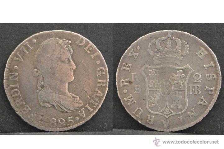 2 reales 1825 sevilla jb fernado vii plata españa #preguntassevilla
