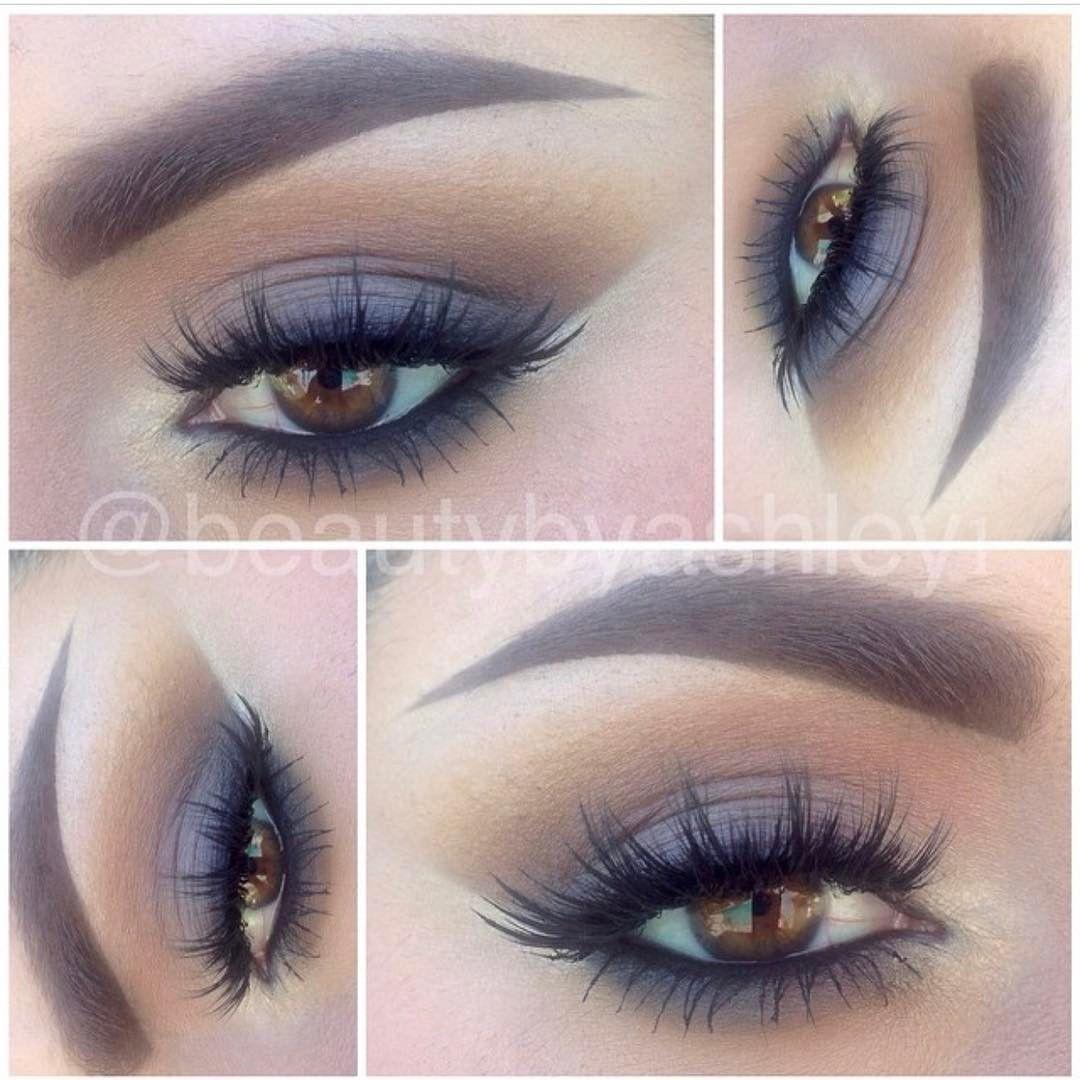 grey & warm brown smokey eye neutral makeup by