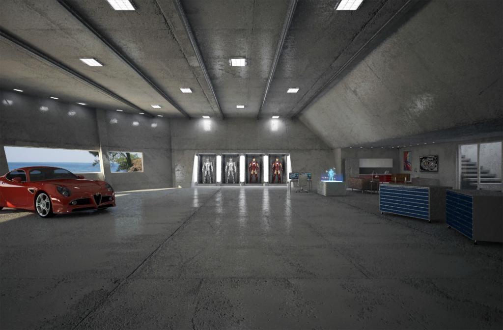 Tony Stark Workshop Dream Garage